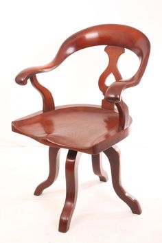 Vintage Chairs UK - Wooden & Leather Antique Chair For Sale Online Antique Chairs For Sale, Vintage Chairs, Retro Furniture, Antique Furniture, Desk Chair, Victorian, Antiques, Home Decor, Objects