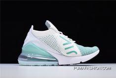 0776045c428c06 Women Nike WMNS Air Max 270 Flyknit Igloo White Clear Emerald-Black AH6803-301  Best