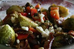 24/7 Low Carb Diner: Roasted Brussels Salad