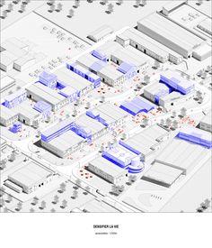 Cosmonostro : space is ours, Arnaud Jouanchicot - Atlas of Places Urban Design Concept, Urban Design Diagram, Urban Design Plan, Architecture Panel, Architecture Graphics, Architecture Drawings, Architecture Diagrams, Axonometric Drawing, 3d Modelle