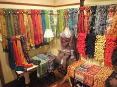 Scarves an shawl display