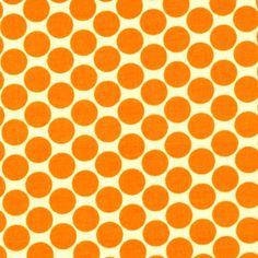 Manufacturer: Westminster / Free Spirit (AB13 Tangerine)  Designer: Amy Butler  Collection: Lotus  Print Name: Full Moon Polka Dot in Tangerine