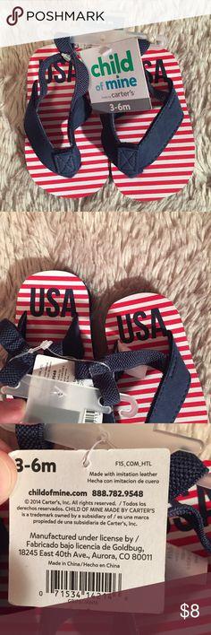 Baby flip flops NWT baby flip flops for size 3-6 months Carter's Shoes Sandals & Flip Flops