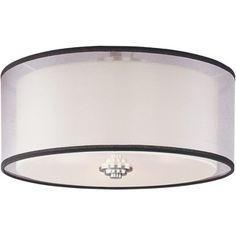 White Shade 3-light Nickel Orion Flush Mount Light | Overstock.com Shopping - The Best Deals on Flush Mounts