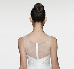"The sheer beaded back of our ""Erie"" gown"