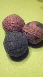 ramblingstump: Felted Dryer Balls out of A Wool Skirt