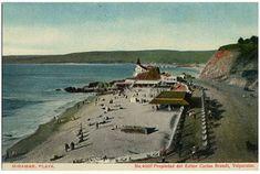 Chile, Painting, Outdoor, Vintage Postcards, Antique Photos, Del Mar, Beaches, Past, Memories