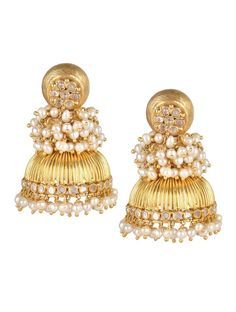 Indian Pearl Earrings #jhumki #jhumka