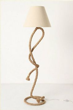 For a real statement, try a floor version, like this Paused Rope Floor Lamp ($350).