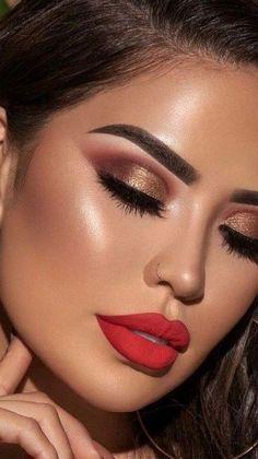 Cute Makeup Looks, Glam Makeup Look, Makeup Eye Looks, Eye Makeup Art, Smokey Eye Makeup, Gorgeous Makeup, Makeup Inspo, Eyeshadow Makeup, Lip Makeup