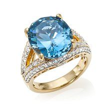 Victoria Wieck Absolute™ Oval Simulated Aquamarine Ring
