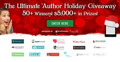 Win the Ultimate Holiday Bundle for Authors! Hey authors. Have you seen this giveaway? Have you entered? What are you waiting for? The prizes are amazing and you only have one more day to have your chance to win!!