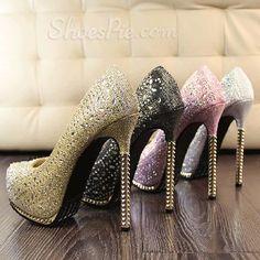 2014 New Arrival Luxurious  Rhinestone  Metal Heel High  Heel  Shoes  Modelos De 6d3dd12a257a