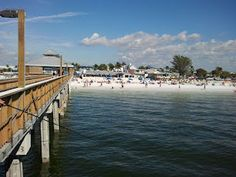 View of the beach from the Pier at Fort Myers Beach