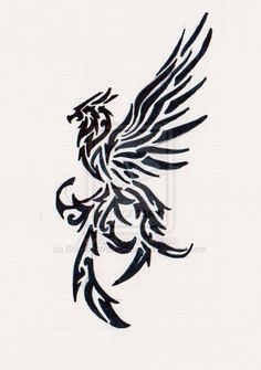 really old bird tribal tattoo bird tattoos