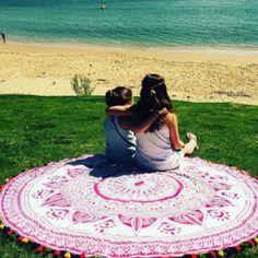 home accessory beach mandala round mandala hippie