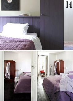 purple bed linen by the style files, via Flickr