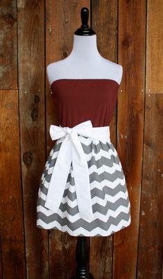 Texas A&M Aggies Strapless Game Day Dress