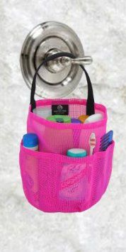 """Posted in: Dorm Shower Caddy - Hot Pink & Black Straps - by Saltwater Canvas description """"Into the shower, dry in an hour! College Tote, College Hacks, College Dorm Rooms, College Supplies, Easy Dorm Crafts, Dorm Packing Lists, College Essentials, Hot Pink, Pink Black"""