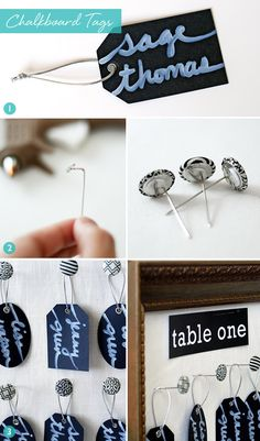 diy chalkboard escort card tags  why did i make these when you can buy them