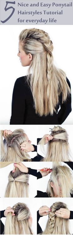 Looking for some nice and easy ponytail hairstyles idea? We are here with five nice and easy ponytail hairstyles. Ponytails are casual but if designed properly, it can be trendy as other fancy hairstyles. Though in this article dedicated to nice and easy ponytail hairstyles for everyday life. If you are interested in the ponytail, Find more; ponytail hairstyles easy, ponytail hairstyles for long hair, ponytail hairstyles for medium hair.