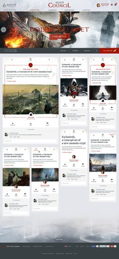Assassin's Creed Council on Behance #Ui #ux #design #webdesign #ubisoft #geek #forum