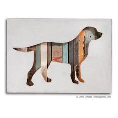 Labrador Art, Dog Walk (Mini) Collection, Custom Silhouette, Made to Order