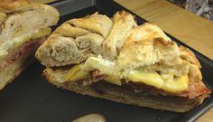 Sandwich de bacon, manzana y queso de cabra · @sandwishare · #sandwich