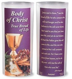 First Communion Rare Gift Decoration Body of Christ True Bread of Light LED Flameless Candle * Check this awesome product by going to the link at the image.