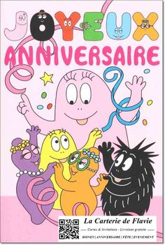 Carte anniversaire Barbapapa