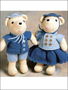 Crochet - Accessories - Claude and Claudia Bear
