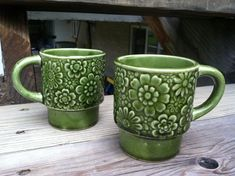 vintage flower coffee mugs