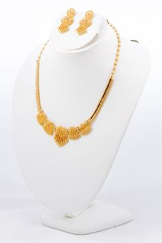 YELLOW GOLD SET, YGSET21K014, Weight:37.6g - Baladna Jewelry