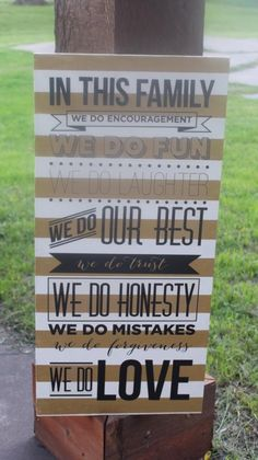 Family Rules Sign #familyrules #inthisfamily