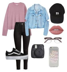 """""""Untitled #100"""" by kayamariewilliams on Polyvore featuring H&M, Vans and Lime Crime"""
