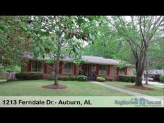 1213 Ferndale Dr.- Auburn, AL (Ashley & Karen)Enjoy one of Auburn's most established neighborhoods convenient to everything! This home has so much living space! The foyer opens into a formal dining room with built-ins and a formal living room on the front of the home, both with carpet. The Great Room is spacious and features a brick hearth with a wood-burning fireplace. A wall of built-ins and painted paneling add to the charm! French doors lead out onto a great back deck with built-in…