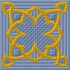 """Kit for large cushion cover in classic geometric design 18"""" by 18"""""""