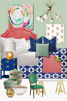6th Street Design School: Bedroom Moodboard with Sources