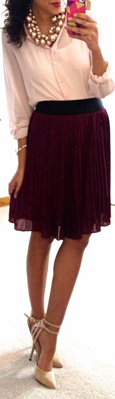 Hello, Gorgeous!: threads.Love the burgundy pink color combo