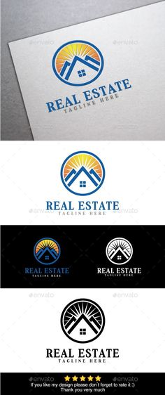 Buy Real Estate Logo Template by KOUVLAX on GraphicRiver. Features : Available in Ai, EPS CMYK color Vector format CS format fully editable Easy to change text and color R. Logo Design Template, Logo Templates, E Design, Graphic Design, Real Estate Logo Design, Realtor Logo, Real Estate Photography, Selling Real Estate, Color Vector