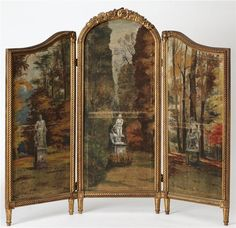 folded screen  ITALIAN SCHOOL, 18th century (Italy)