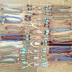 Twine  Twig turquoise necklaces