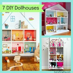 7 DIY Dollhouses...great gift for kids! via...l EverythingEtsy.com
