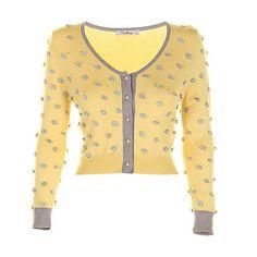 Darling Yellow Ariel Cardigan- at Debenhams.com