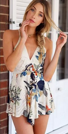 OUTFIT: http://www.glamzelle.com/collections/whats-glam-new-arrivals/products/tropical-goddess-leaves-floral-onepiece-romper-playsuit