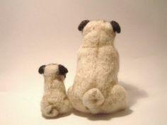 Needle felted pugs
