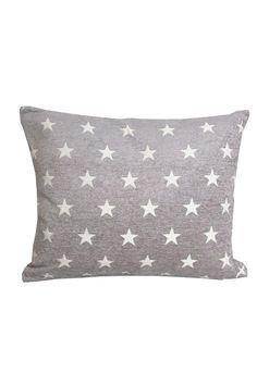 <3 grey cushion with white stars