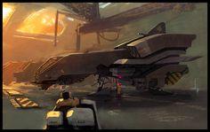 spaceship sci fi concept art; Spaceship Interior Concept Art. Reworking the space ship