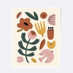 How lovely would it look on a blanket? by --- Do you wanna make money selling licensed with no upfront cost? Link in bio --- Punch Needle Patterns, Colorful Wall Art, Floral Prints, Art Prints, Punch Art, Wall Colors, Print Patterns, Embroidery, Illustration