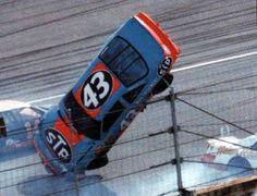 Richard Petty, flyin!   #OLDSCHOOLNASCAR